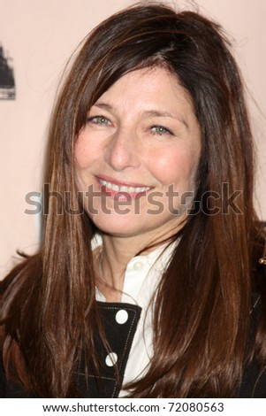SANTA MONICA, CA - FEB 26:  Catherine Keener in the Press Room of the 2011 Film Independent Spirit Awards at the Beach on February 26, 2011 in Santa Monica, CA - stock photo
