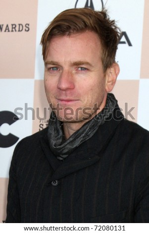 SANTA MONICA, CA - FEB 26:  Ewan McGregor arrives at the 2011 Film Independent Spirit Awards at the Beach on February 26, 2011 in Santa Monica, CA - stock photo