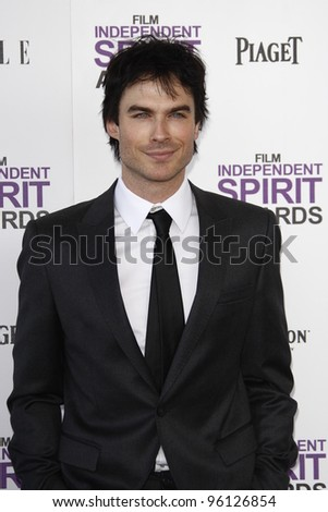 SANTA MONICA, CA - FEB 25: Ian Somerhalder at the 2012 Film Independent Spirit Awards on February 25, 2012 in Santa Monica, California