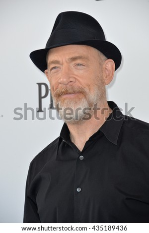 SANTA MONICA, CA - FEBRUARY 27, 2016: J.K. Simmons at the 2016 Film Independent Spirit Awards on the beach in Santa Monica, CA.