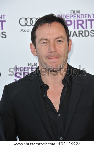 SANTA MONICA, CA - FEBRUARY 25, 2012: Jason Isaacs at the 2012 Film Independent Spirit Awards on the beach in Santa Monica, CA. February 25, 2012  Santa Monica, CA