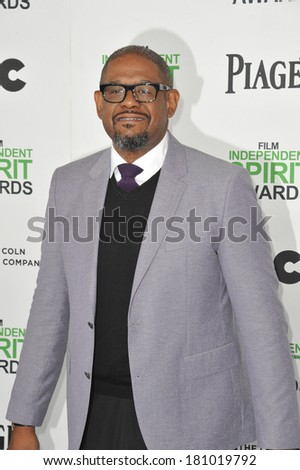 SANTA MONICA, CA - MARCH 1, 2014: Forest Whitaker at the 2014 Film Independent Spirit Awards on the beach in Santa Monica, CA.