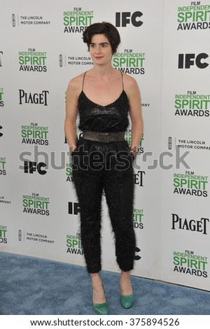 SANTA MONICA, CA - MARCH 1, 2014: Gaby Hoffmann at the 2014 Film Independent Spirit Awards on the beach in Santa Monica, CA.