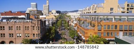 SANTA MONICA, CALIFORNIA - CIRCA 1999: Third Street Promenade, Santa Monica, California - stock photo
