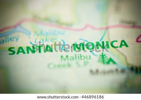 Santa Monica Map Stock Images, Royalty-Free Images & Vectors ...