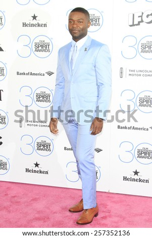 SANTA MONICA - FEB 21: David Oyelowo at the 2015 Film Independent Spirit Awards on February 21, 2015 in Santa Monica, California - stock photo