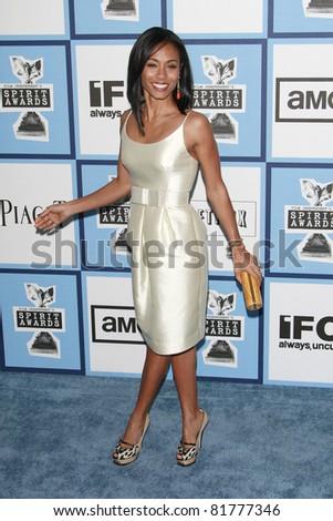 SANTA MONICA - FEB 23: Jada Pinkett Smith at the 2008 Independent Spirit Awards held on the beach in Santa Monica, California on February 23, 2008 - stock photo