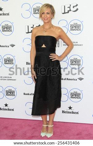 SANTA MONICA - FEB 21: Kristen Wiig at the 2015 Film Independent Spirit Awards on February 21, 2015 in Santa Monica, California - stock photo