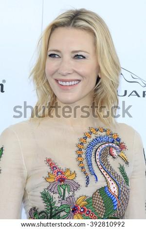 SANTA  MONICA - MAR 1: Cate Blanchett at the 2016 Film Independent Spirit Awards at Santa Monica Beach on February 27, 2016 in Santa Monica, California - stock photo