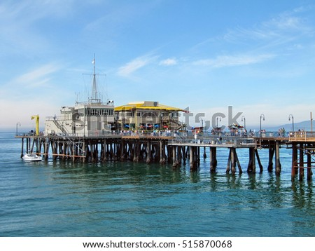 Santa Monica Pier Restaurant Stock Photo Royalty Free 515870068