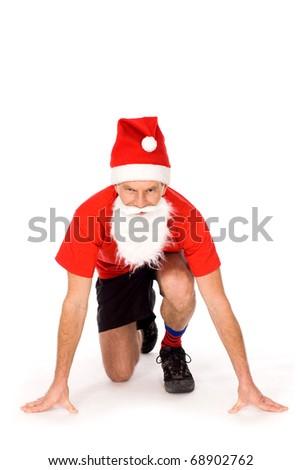 Santa posing - stock photo