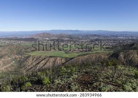 Santa Rosa Valley in Ventura County, California. - stock photo