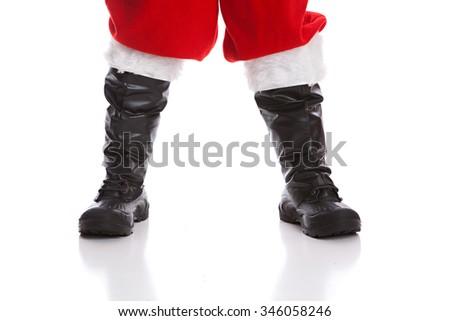 Santa's Boots - stock photo