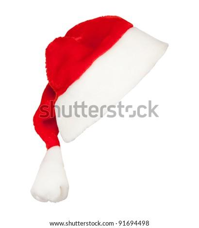 Santa's cap isolated on white background - stock photo