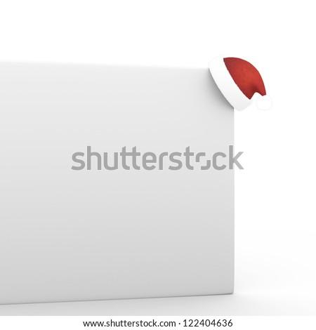 Santa's Hat on the Board - stock photo
