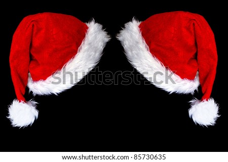 santa's hat with space for text - stock photo