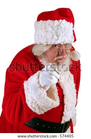 Santa's Warning - stock photo