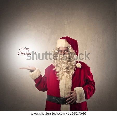 Santa's wishes  - stock photo