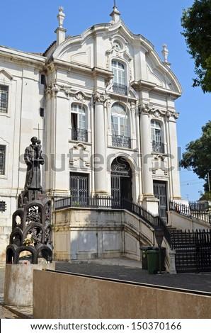 Santo Antonio church. Lisbon. Portugal - stock photo