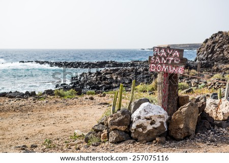 Santo Domingo beach. Tenerife, Canary Islands. Spain - stock photo