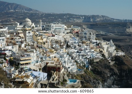 Santorini, Greece - stock photo