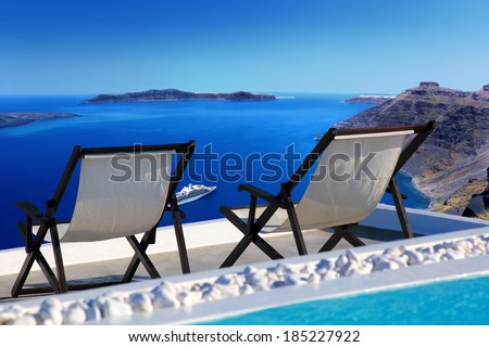 Santorini island in Greece, Europe - stock photo