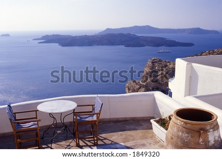 Santorini View - stock photo