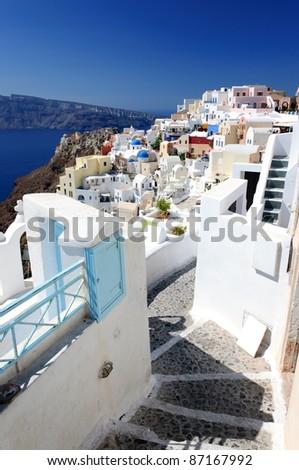Santorini view, Greece - stock photo