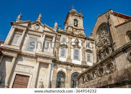 Sao Francisco church in downtown Porto. - stock photo