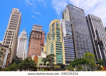 Sao Paulo, Brazil - big city skyscraper skyline. - stock photo