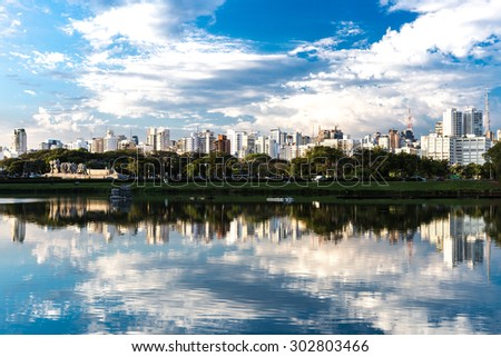 Sao Paulo skyline in Brazil - stock photo
