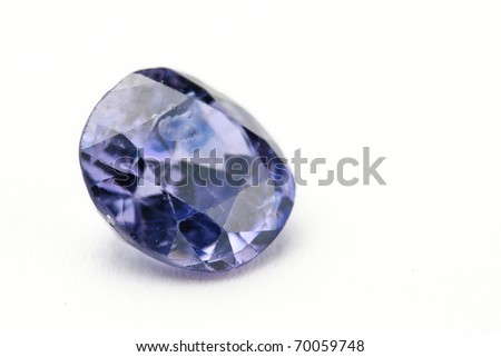 sapphire Jewel isolated against a white background - stock photo