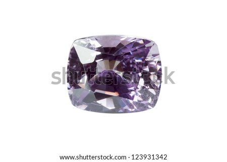 Sapphire Jewel on white background