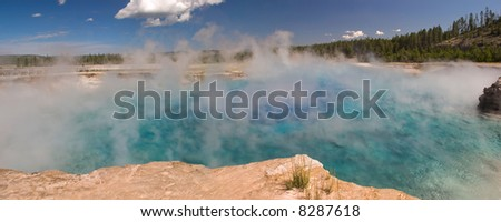 Sapphire Pool in Yellowstone National Park. - stock photo