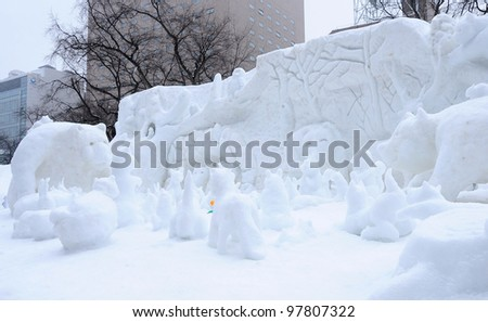 Japan Snow Festival Stock Images, Royalty-Free Images ...
