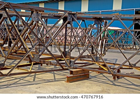 SARABURI-THAILAND-MARCH 27 : Assembly test of Prototype steel tower in transmission Line on March 27, 2015 Saraburi Province, Thailand.
