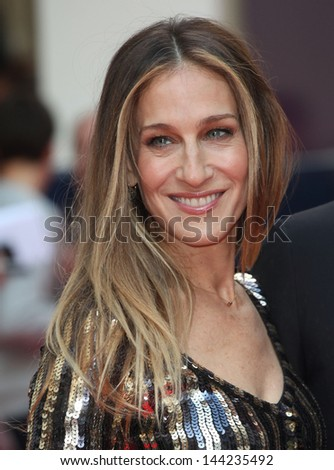 Sarah Jessica Parker arriving for the Charlie And The Chocolate Factory Press Night, at Theatre Royal, London. 25/06/2013 - stock photo