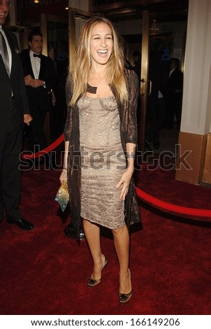 Sarah Jessica Parker at A CHORUS LINE Revival Opening Night on Broadway, Gilt at the Palace Hotel, New York, NY, October 05, 2006 - stock photo