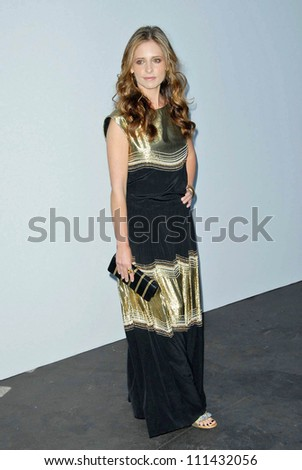 Sarah Michelle Gellar  at the 2007/2008 Chanel Cruise Show Presented by Karl Lagerfeld. Hanger 8, Santa Monica, CA. 05-18-07 - stock photo