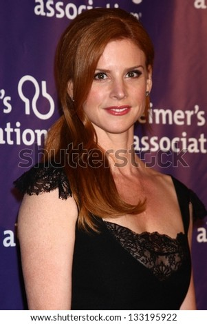 "Sarah Rafferty at the 21st Annual ""A Night at Sardi's"" to Benefit the Alzheimer's Association, Beverly Hilton, Beverly Hills, CA 03-20-13"