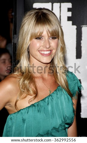 "Sarah Wright at the Los Angeles Premiere of ""The Thing"" held at the Universal Studios in Hollywood, California, United States on October 10, 2011.   - stock photo"