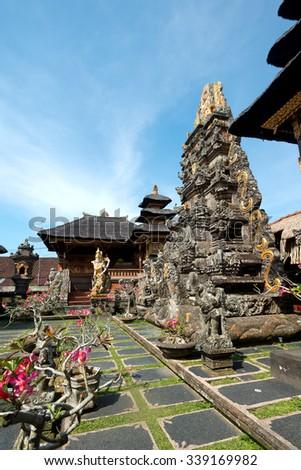 Saraswati Temple in Ubud, Bali, Indonesia - stock photo