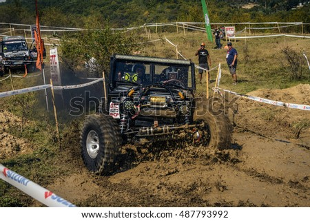 SARATA MONTEORU, BUZAU, ROMANIA - SEPTEMBER 15, 2016: Competitor at GTC TROPHY 2016 â?? The longest day! The 5th Stage of Romanian Off-Road Championship