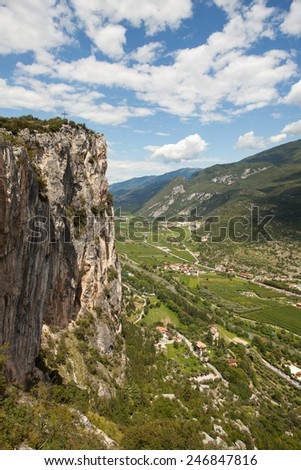 sarca vallee in italy  - stock photo