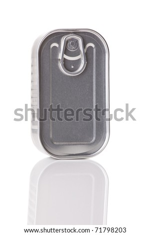 Sardine tin isolated over a  white background