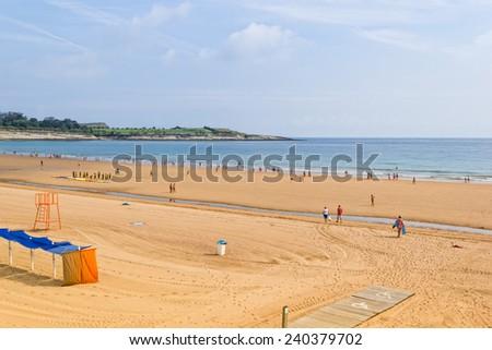 Sardinero, the popular beach of Santander - Cantabria - Spain - stock photo