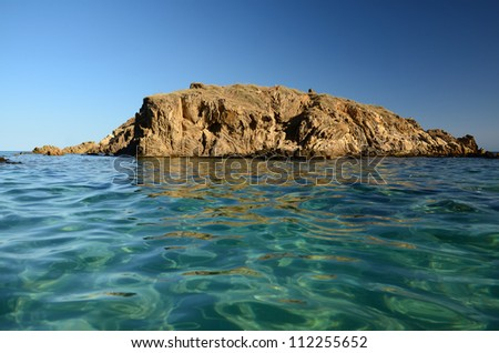 Sardinia, cliff named Su Giudeu, near Pula