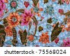 Sarong texture - stock photo