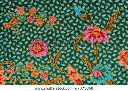 Sarong texture - stock photo