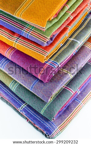 Sarongs of Thailand - stock photo